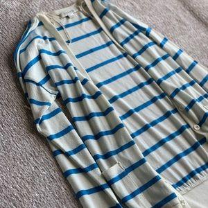 Blue and cream cardigan